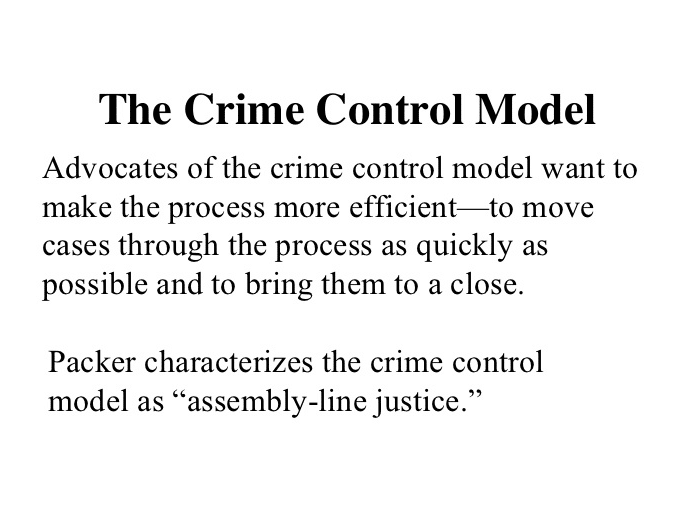 Crime Control Model: Definition & Examples