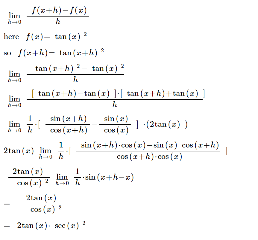 Derivative of sec x, tan x : Derivative, graph, integral, formula and more